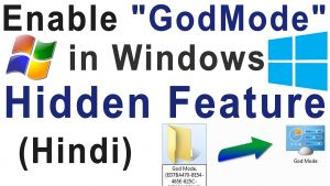 god mode in windows