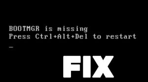How to Fix Bootmgr is Missing error
